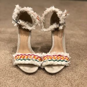 Anthropologie Boho Two Strap Heels